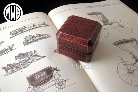 Ring Box, Wood Ring Box, Ring Bearer Box, Antique Ring Box, Custom Ring Box, Marry Me Ring Box, Engraved Ring Box, Free Shipping, RB43