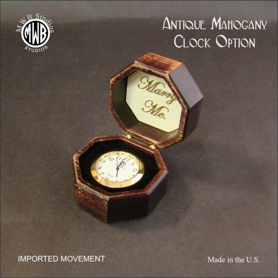 Clock Made of Solid Mahogany with 36mm Fitup. MDC-7 Free Shipping within the U.S.