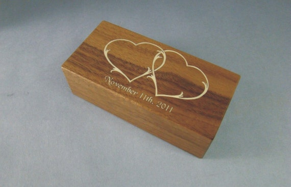 Double Ring Box for That Special Day. Free Shipping and Engraving. DRB-1