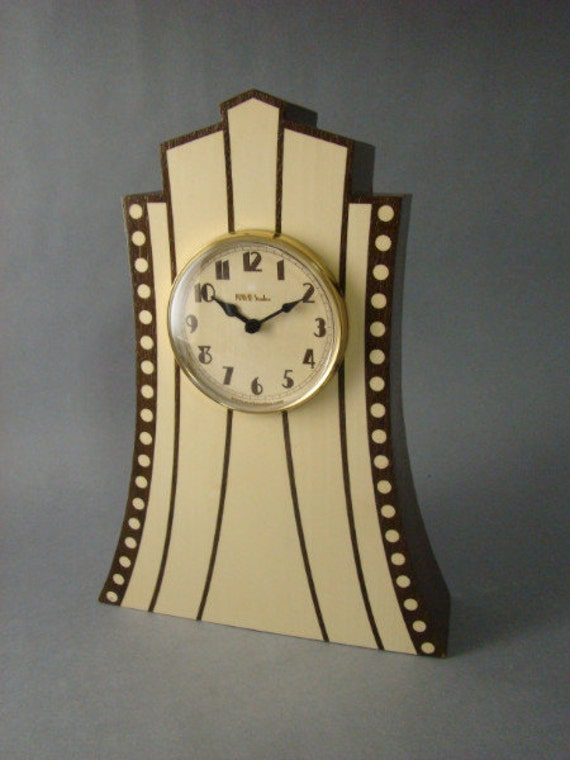 Clock with Art Deco Theme. MC10 Free Shipping within the U.S.