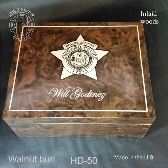 Humidor Handcrafted in the U.S - Free Engraving and Free Shipping in the U.S.  HD50