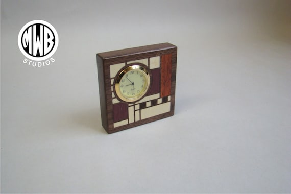 "Clock Art Deco Motif ""Miniture"". MDC-2 Free Shipping within the U.S."