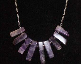 Amethyst Bars Necklace