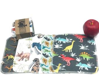 Reusable Unpaper Towels  Cloth Napkins -  12  Napkins  -  Dinosaur - Choose your size
