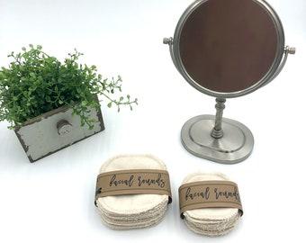 """GOTS Unbleached Organic Cotton Flannel Facial Rounds +  Undyed Organic Cotton Thread - 3"""" or 4"""" - Compostable"""