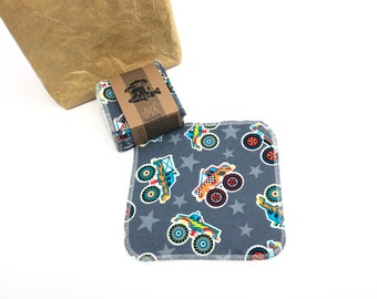 Reusable Unpaper Towels  Cloth Napkins -  12  Napkins  -  Trucks Choose your size