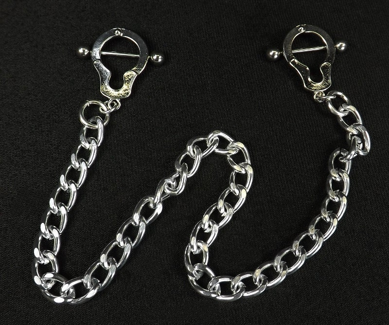 Handcuff,Nipple,Shields,Surgical,stainless,steel,nipple,barbells,14g,bars,piercing,jewelry,body,barbells 14g,nipple jewelry,pierced jewelry,nipple shields,piercing jewelry,nipple barbell,body jewelry,bdsm jewelry,surgical steel,handcuff,Surgical steel, nipple play
