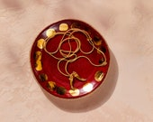 House of Harlow 1960 Creator Collab - Red + Gold Stoneware Jewelry Dish
