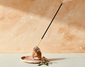 House of Harlow 1960 Creator Collab - Marbled Terracotta and Porcelain Incense Holder with Gold