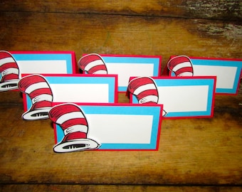 Suess themed Food tents - birthday food tent place card dr suess birthday party