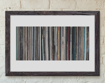 Clearance Sale, Large Wall Art, Record Collection, Music Wall Decor, Vintage Records, Affordable Wall Art, Wall Decor, Home Decor, Triptych