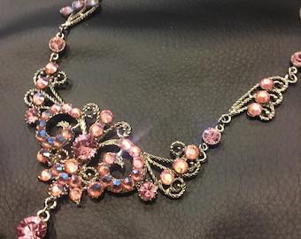Princess pink necklace