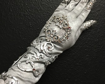 Crystal glove (left hand)