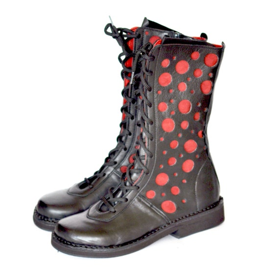 Handmade Leder high lace up Stiefel Comfortable Etsy fashion   Etsy Comfortable 2ec9a2