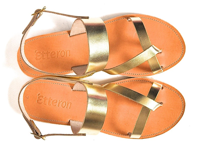 f1e21f5eb52eb Leather Sandals / Classic cross straps women sandals with ankle strap /  Greek Handmade sandals / Leather out soles