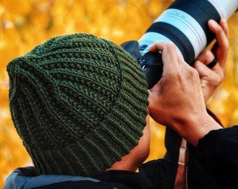 KNITTING PATTERN ⨯ Men's Classic Beanie Knitting Pattern, Men's Rib Hat Knitting Pattern ⨯ Winter Hat Knit Pattern, Easy Knit Beanie Pattern