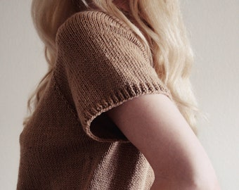 KNITTING PATTERN ⨯ Classic Shirt Sweater Knitting Pattern, Tee T-Shirt Knit Pattern ⨯ Shirt Knitting Pattern, Tee Shirt Knitting Pattern