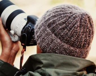 KNITTING PATTERN ⨯ Men's Classic Beanie Knitting Pattern, Mens Winter Hat Knitting Pattern ⨯ Men Easy Beanie Knit Pattern, Classic Knit Hat