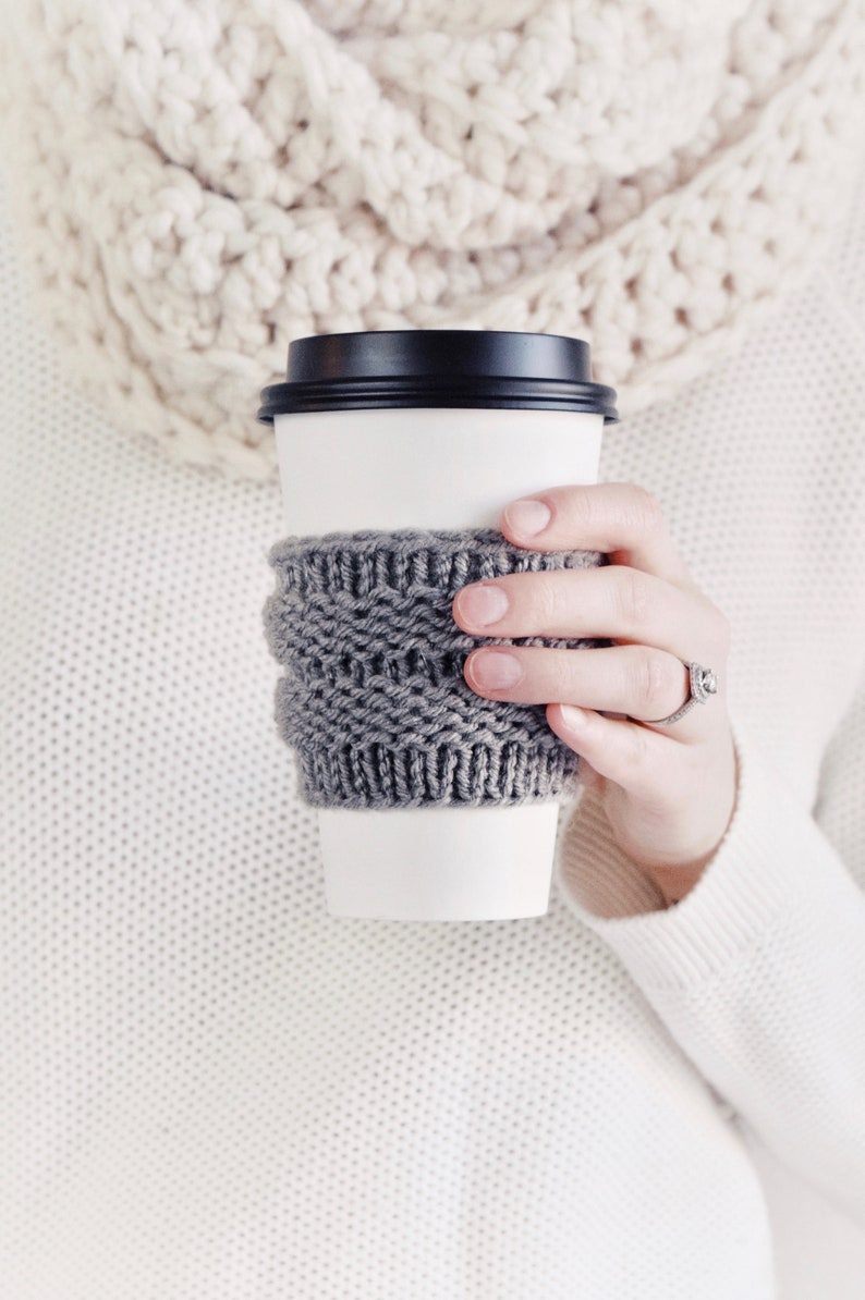 KNITTING PATTERN  Coffee Cozies Knit Pattern Easy Tea Cosies image 0
