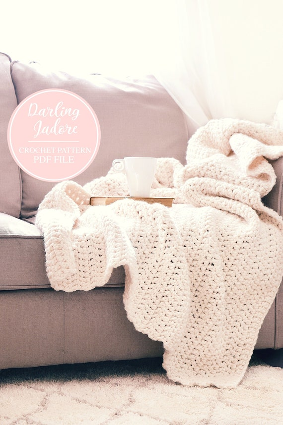 CROCHET PATTERN Chunky Throw Blanket Afghan Easy Crochet | Etsy