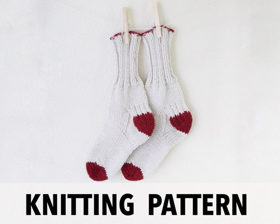 Knitting Pattern Socks Knit Pattern Boot Socks Easy Knit Etsy