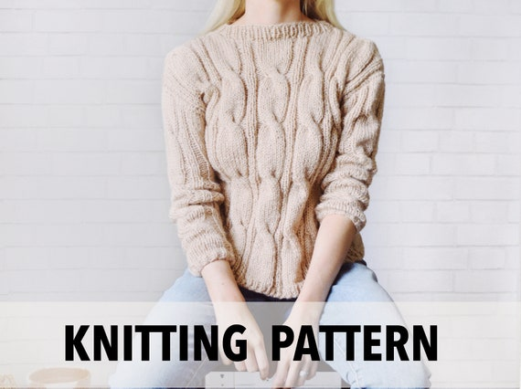 Knitting Pattern Cable Knit Sweater Knitting Pattern Fall Etsy