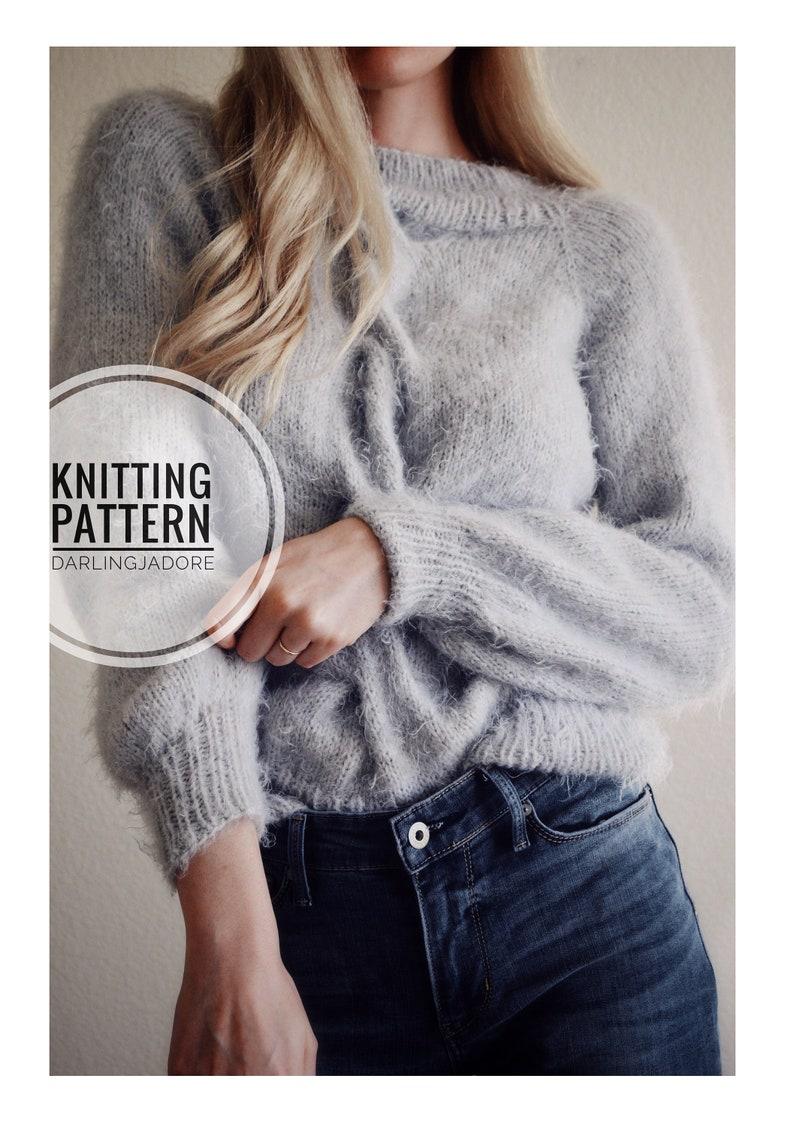 Knitting Pattern Cable Knit Sweater Pattern Chunky Knit Etsy