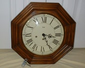 Vintage Trend Westminster Chime Gallery Wall Clock, Professionally Restored w Hermle German 8 day Movement, Fully Serviced, w Original Key