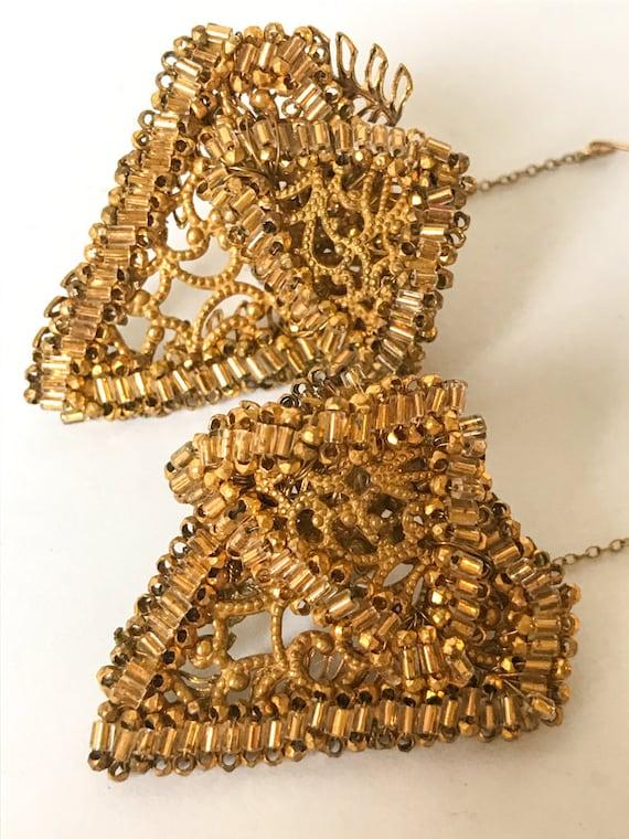Vintage 1950s Miriam Haskell Filigree Earrings
