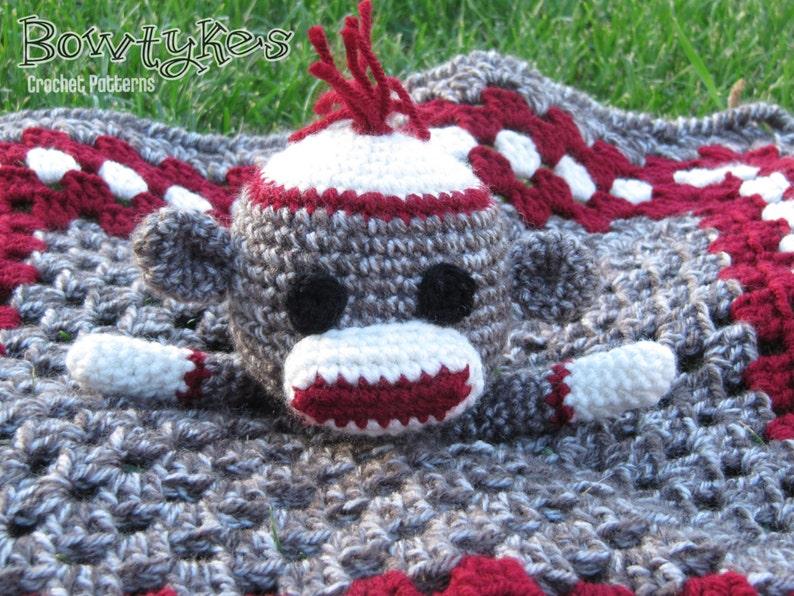 Sock Monkey Lovey Crochet Pattern Instant Download Etsy