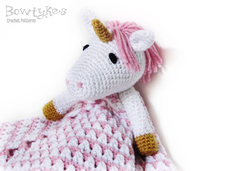 Descargar unicornio Lovey CROCHET patrón instantánea - blankey ...