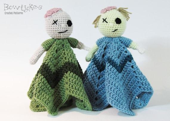 Zombie Lovey Crochet Pattern Instant Download Blankey Etsy