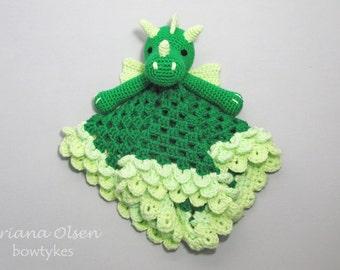Dragon Lovey CROCHET PATTERN instant download - blankey, blankie, security blanket
