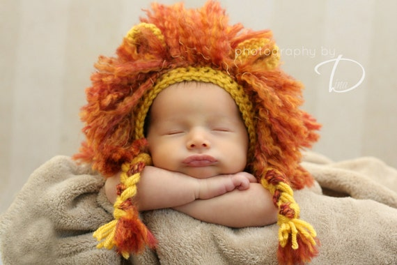 Lion Mane Bonnet Crochet Pattern Instant Download Hat Beanie Etsy