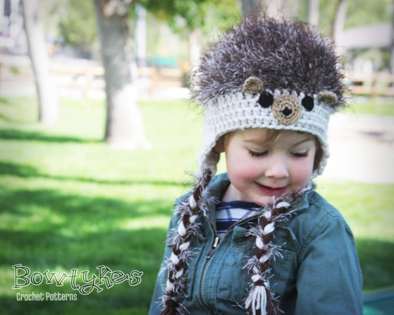 Hedgehog Hat CROCHET PATTERN instant download  3e097503c76