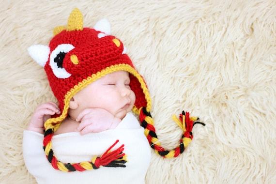 Download Dragon Ohrenklappe Hut häkeln Muster sofort oder