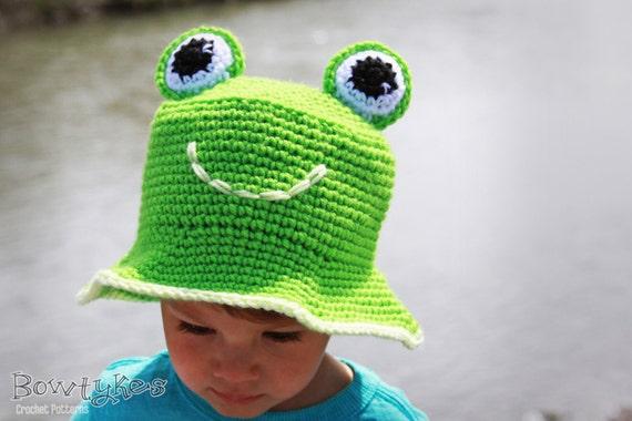 Frog Eimer Hut häkeln Muster sofort-Download Sonnenhut