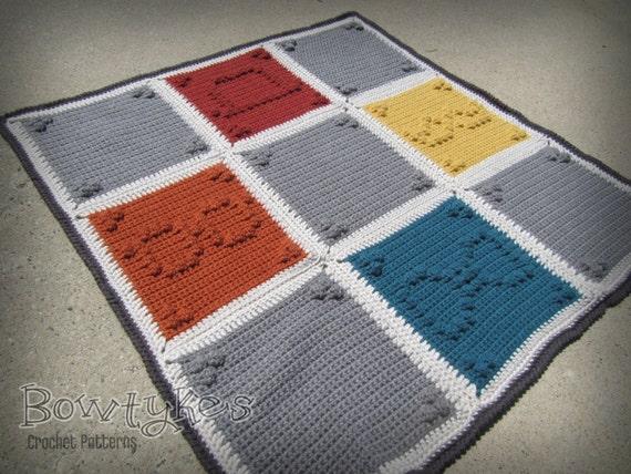 Schnurrbart Silhouette Decke häkeln Muster sofort-Download | Etsy