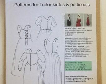 Pattern: The Tudor Tailor Patterns for Tudor kirtles & petticoats, Smaller Sizes