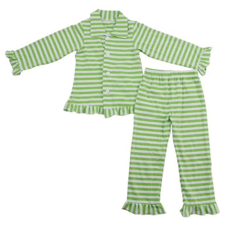 Kids and Women Christmas Pajama Blanks READY TO SHIP Stripe Button Up Christmas Pajamas Blank Or Personalized