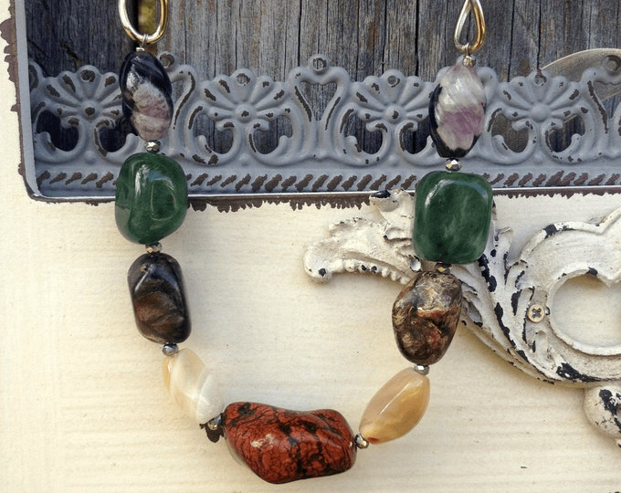 Earth Tones Stone Necklace