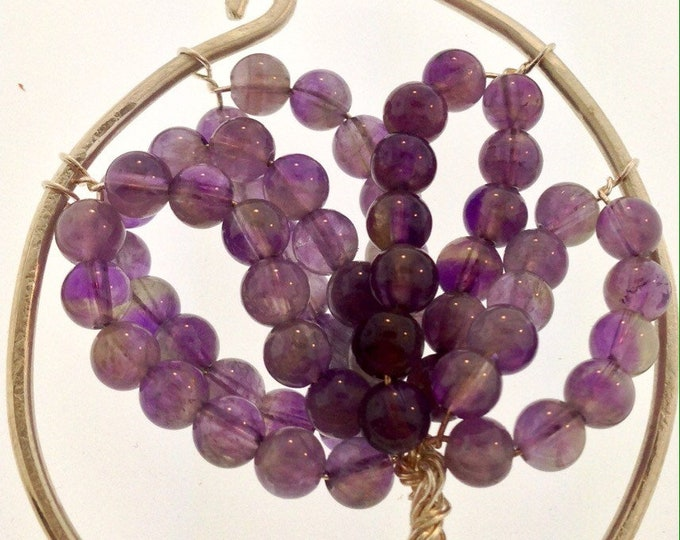 Amethyst and Sterling Tree of Life