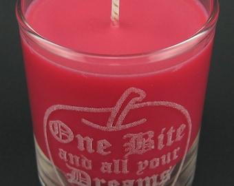 Snow White Poison Apple Mini Candle