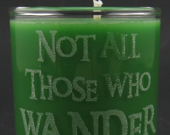 Lord of the Rings Mini Soy Candle - One Does Not Simply Walk Into Mordor, You Shall Not Pass, or Not All Those Who Wander are Lost