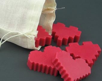 Zelda Pixel Heart Soy Wax Melts for Valentine's Day
