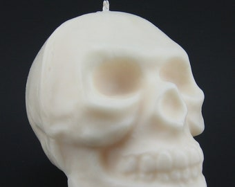 Human Skull Halloween Candle with or without Dripping Blood (2 lbs)