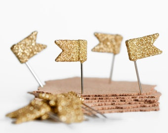 Daily Planner Cork Board Push Pins. Wedding To Do List Organizer. Handmade Fancy Pins in Sparkly Gold Glitter. Gift for Mom, Teacher, Sister