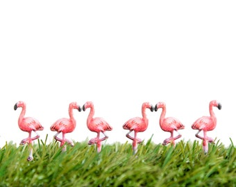 Pink Flamingo Party Decorations, Tropical Baby Shower Favors, Set of 6 Cute Push Pins, Flamingos Birthday Decor, Summer Gifts Beach Nursery