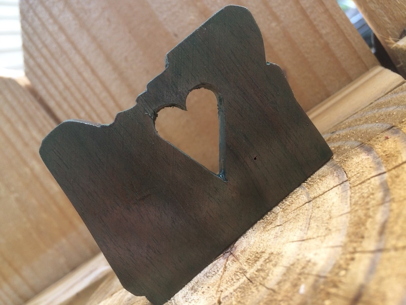 GoldenStateOregon State with Heart wooden Magnet