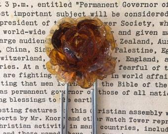vintage bookmark toffee flower